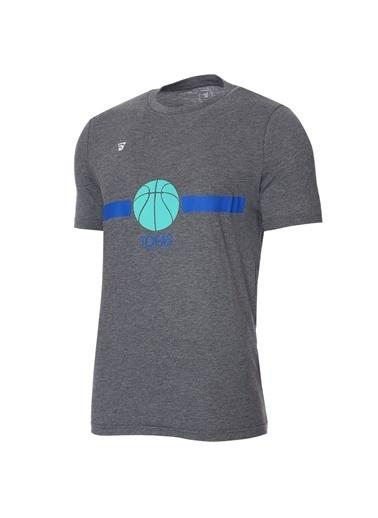 Sportive Tofaş Erkek Antrasit Basketbol Tişört Tkt100102-Ant-Tof-B Gri